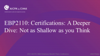 Certifications: A Deeper Dive: Not as Shallow as you Think