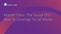 Master Class: The Social CFO - How to Leverage Social Media