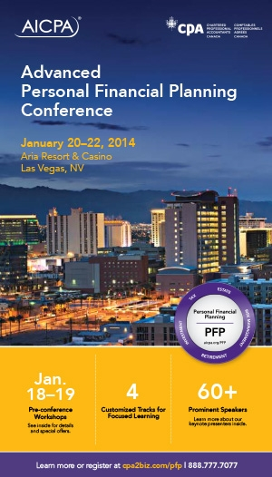 Advanced Personal Financial Planning Conference 2014 - Virtual