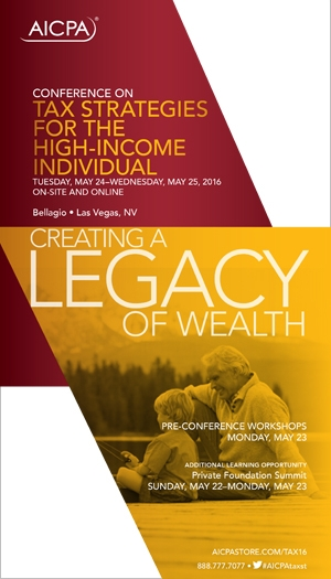 Conference on Tax Strategies for the High-Income Individual 2016