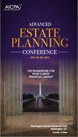 Advanced Estate Planning Conference 2016