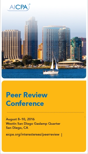 Peer Review Conference 2016
