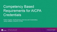 Competency-Based Renewal Requirements for AICPA Credentials