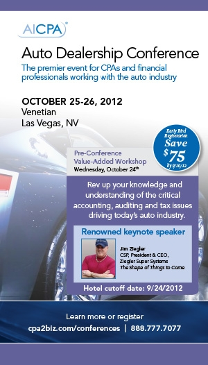 AICPA National Auto Dealership Conference 2012 Live