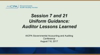 Uniform Guidance: Auditor Lessons Learned