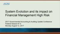 System Evolution and its Impact on Financial Management High Risk