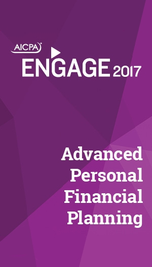 Advanced Personal Financial Planning 2017 (part of ENGAGE)