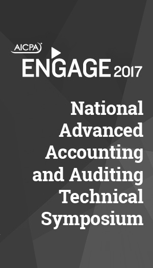 National Advanced Accounting and Auditing Technical Symposium 2017 (part of ENGAGE)