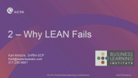 "Learning From the Mistakes of Others - If ""Lean"" Theory Fails, Why?"