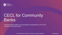 CECL For Community Banks