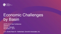 Economic Challenges by Basin 2017