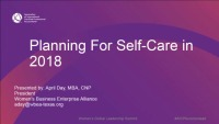 Planning for Self Care 2018
