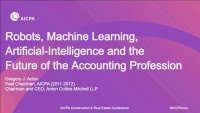 Robots, Machine Learning, Artificial-Intelligence and the Future of the Accounting Profession