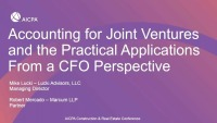 Accounting for Joint Ventures and the Practical Applications from a CFO Perspective