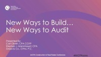 Evolving Business Models of a Contractor and Audit Risks