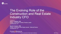 Construction & Real Estate CFO's Role in Risk Management