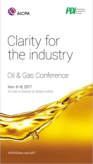 AICPA/PDI Oil and Gas Conference 2017
