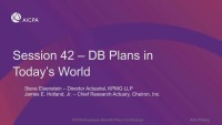 DB Plans in Today's World