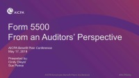 Form 5500: From an Auditor's Perspective