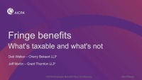 Fringe Benefits - What's Taxable & What's Not