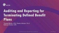 Auditing and Reporting for Terminating Defined Benefit Plans