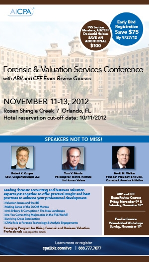 AICPA Forensic & Valuation Services Conference 2012