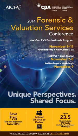 AICPA Forensic & Valuation Services Conference 2014 - Virtual