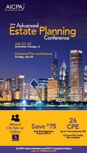 Advanced Estate Planning Conference 2014 - Virtual