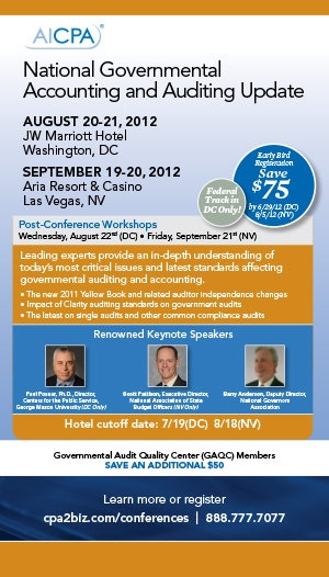 AICPA National Governmental Accounting and Auditing Update Conference East 2012