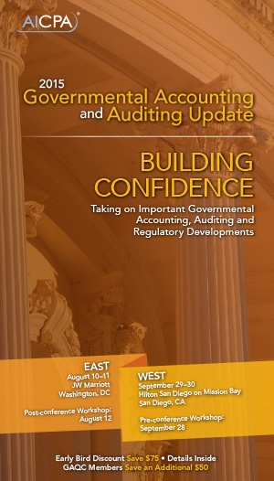 AICPA Governmental Accounting and Auditing Update Conference East 2015 - Virtual