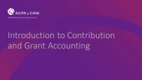 Introduction to Contribution and Grant Accounting