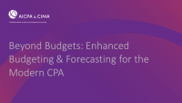 Beyond Budgets: Enhanced Budgeting & Forecasting for the Modern CPA