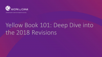 Yellow Book 101: Deep Dive into the 2018 Revisions