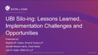 UBI Silo-ing: Lessons Learned, Implementation Challenges and Opportunities