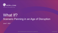 What if? Scenario Planning in an Age of Disruption