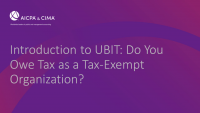 Introduction to UBIT: Do You Owe Tax as a Tax-Exempt Organization?