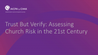 Trust But Verify: Assessing Church Risk in the 21st Century