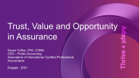 NAA2101. AICPA Update: Trust, Value and Opportunity in Assurance