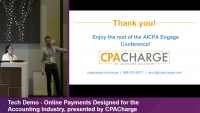 ENG21LL24. Tech Demo - Online Payments Designed for the Accounting Industry, presented by CPACharge (non-CPE)