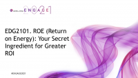 EDG2101. ROE (Return on Energy): Your Secret Ingredient for Greater ROI, preceded by the announcement of the AICPA Outstanding Young CPA Award winners