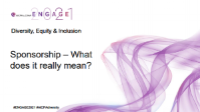 DEI2104. Sponsorship – What Does it Really Mean?