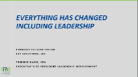 FMA2103. Everything Has Changed Including Leadership