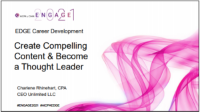 EDG2110. How to Create Compelling Content and Become a Thought Leader