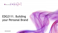 EDG2111. Building your Personal Brand