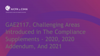 Challenging Areas Introduced in The Compliance Supplements - 2020, 2020 Addendum, And 2021 (Repeat of Session 2107)