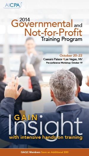 AICPA Governmental and Not-for-Profit Training Program 2014