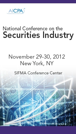 AICPA/SIFMA FMS National Conference on the Securities Industry 2012 Live