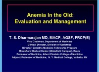Anemia in the Elderly: Evaluation, Outcomes and Management