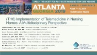 Implementation of Telemedicine in Nursing Homes: A Multidisciplinary Perspective