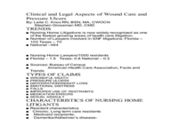 Clinical and Legal Aspects of Wound Care and Pressure Ulcers